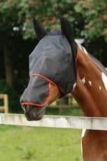 Equilibrium field relief max fly mask black/orange